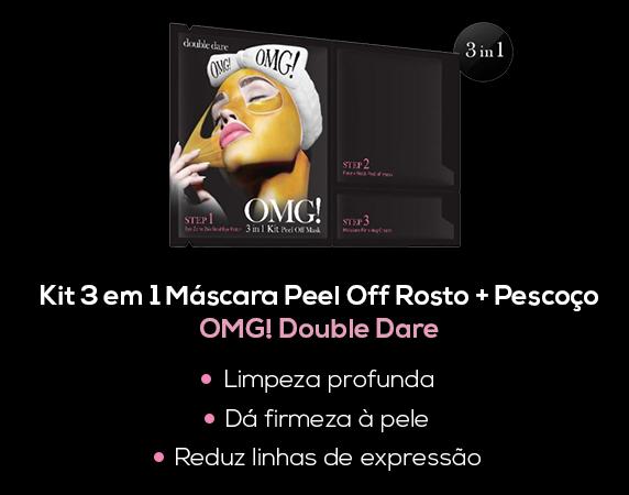 Blog- Kit 3 em 1 Máscara Peel Off Rosto + Pescoço OMG! Double Dare BeautyList -Lançamento-2